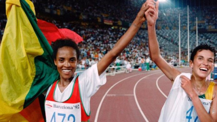 Derartu Tulu, the first black African woman to win gold