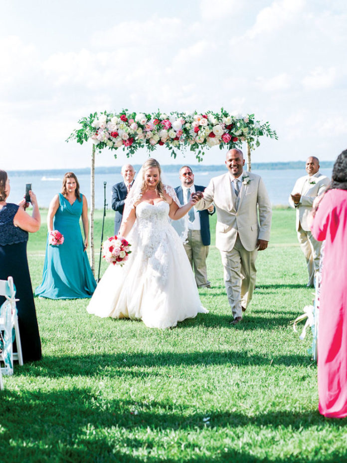 Waterside wedding - At a resort in Cambridge, Maryland