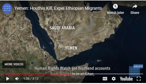 Yemen: Houthis Kill, Expel Ethiopian Migrants
